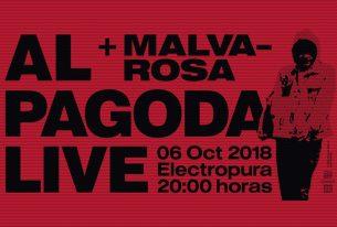 sábado 06-10-2018<br/> concierto acústico <br/>al pagoda + malva-rosa